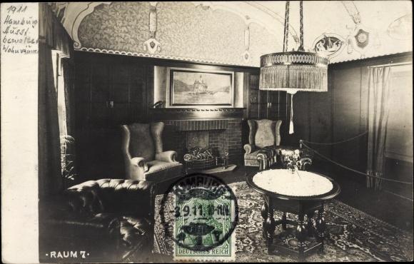 Ansichtskarte / Postkarte Hamburg Mitte Altstadt, Ausstellung Bemalter  Wohnräume1911, Raum 7, Wohnzimmer,