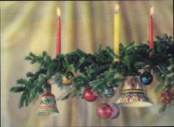 Tannenbaum Mit Kerzen.3 D Ansichtskarte Postkarte Christmas Tree Frohe Akpool De