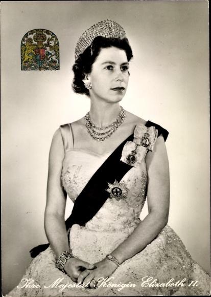 Königin Elizabeth II von England Postkarte