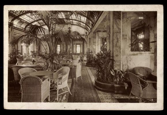 ansichtskarte postkarte hsdg wintergarten des dampfers. Black Bedroom Furniture Sets. Home Design Ideas