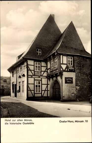 Postcard Goslar In Niedersachsen Hotel Zur Alten Akpoolcouk