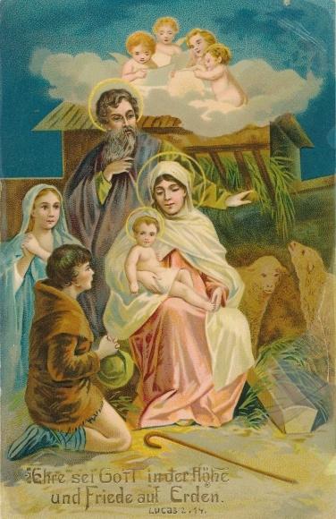 Bilder Krippe Weihnachten.Postcard Frohe Weihnachten Krippe Jesus Maria Akpool Co Uk