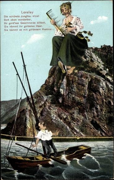 Postcard St Goarshausen Im Rhein Lahn Kreis Loreley