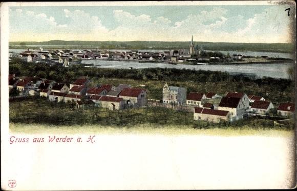 Postcard Werder An Der Havel Gesamtansicht Akpool Co Uk