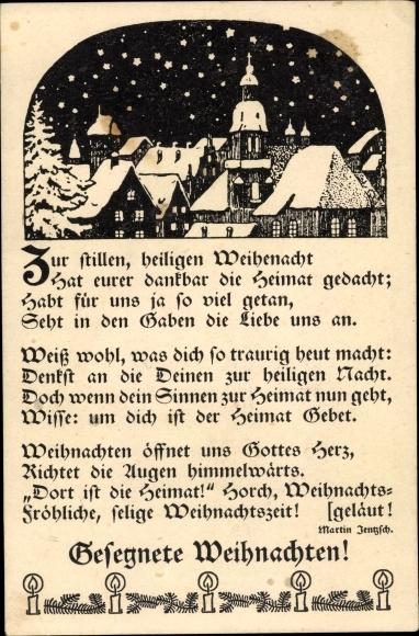 Top Ten Weihnachtsessen.Postcard Frohe Weihnachten Zur Stillen Heiligen Akpool Co Uk