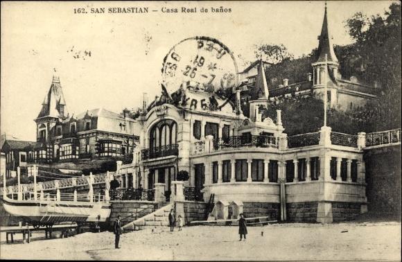 Banos San Sebastian.Postcard San Sebastian Baskenland Casa Real De Banos