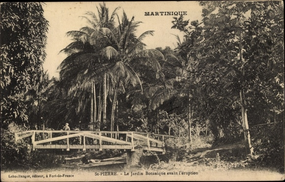 Postcard Saint Pierre Martinique, Le Jardin Botanique | akpool.co.uk