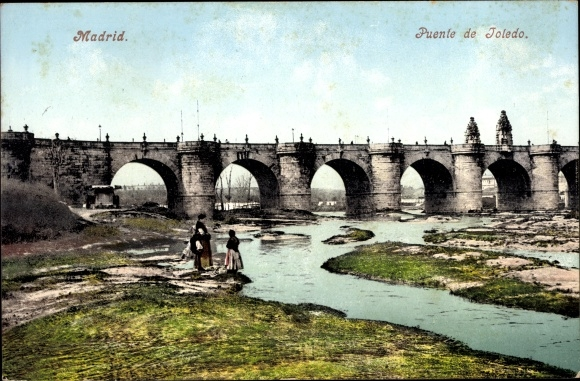 Postcard Madrid Spanien Puente De Toledo Akpool Co Uk