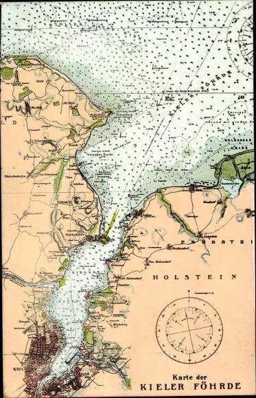 Schleswig Holstein Karte.Landkarten Postcard Kiel In Schleswig Holstein Karte Akpool Co Uk