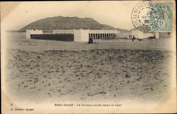 Postcard béni ounif algerien le bureau arabe dans le akpool