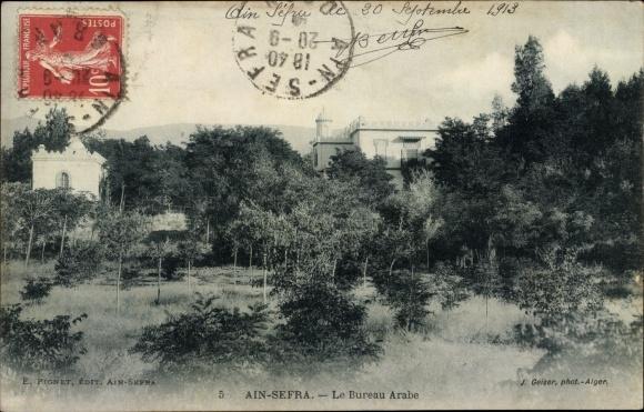 Postcard ain sefra algerien le bureau arabe akpool