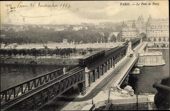 Postcard Paris Passy Le Pont De Passy Akpool Co Uk