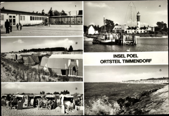 Karte Insel Poel Und Umgebung.Ansichtskarte Postkarte Timmendorf Insel Poel Akpool De