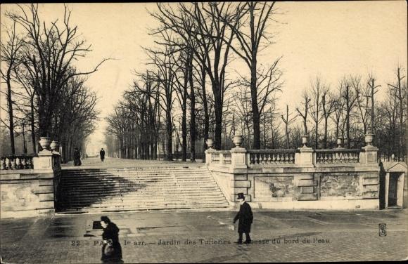 Ansichtskarte / Postkarte Paris I., Jardin des Tuileries ...