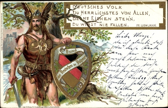Chromo Litho Deutsches Volk Du Herrlichstes Von Allen
