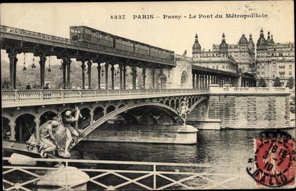 Carte Postale Passy Yonne Le Pont Du Metropolitain