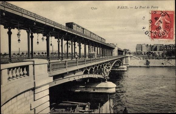 Carte Postale Paris Xvi Pont De Passy Metropolitain
