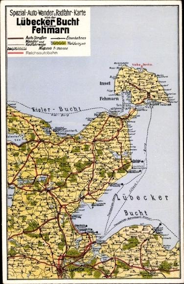 Fehmarn Karte Insel.Ansichtskarte Postkarte Insel Fehmarn Spezial Auto