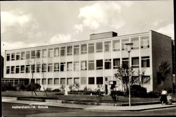 Postcard Eddersheim Hattersheim Am Main Schule