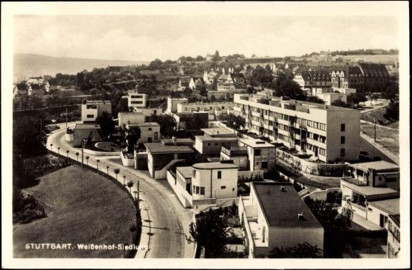Ansichtskarte postkarte stuttgart blick auf die - Bauhaus baden baden ...