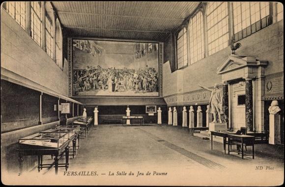 carte postale versailles yveline la salle du jeu de paume statue akpool fr