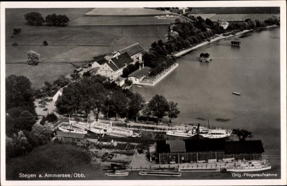 Ansichtskarte Postkarte Stegen Inning Ammersee Akpool De