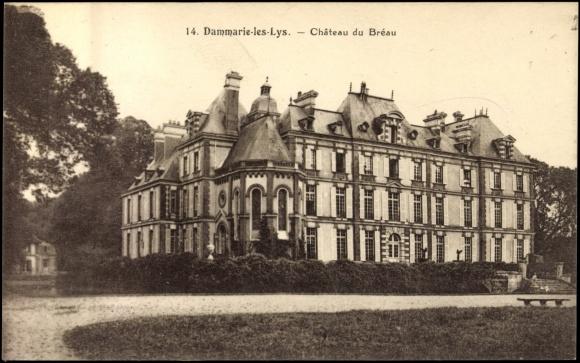 carte postale dammarie les lys cpa 77 chateau du breau. Black Bedroom Furniture Sets. Home Design Ideas