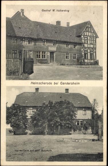 ansichtskarte postkarte helmscherode bad gandersheim gasthof w volkerding. Black Bedroom Furniture Sets. Home Design Ideas