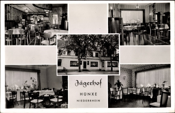 Ansichtskarte Postkarte Hunxe Niederrhein Gaststatte Akpool De