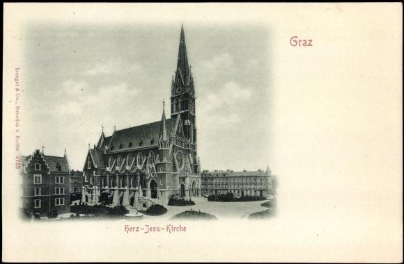 Ansichtskarte Postkarte Graz Steiermark Blick Zur Herz Akpoolde