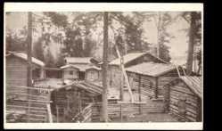 Postcard Seurasaari Finnland, Niemelä torp, Friluftsmuseum