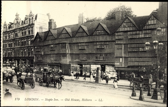 Postcard London England, Staple Inn, Old Houses, | akpool co uk
