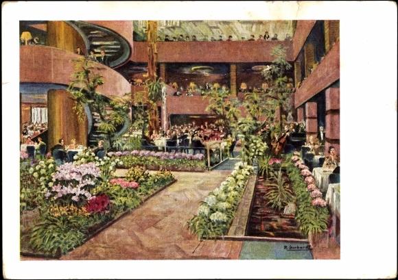 postcard berlin tiergarten im haus germania am zoo. Black Bedroom Furniture Sets. Home Design Ideas