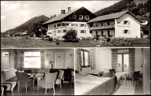 ansichtskarte postkarte thalkirchdorf oberstaufen pension wintergerst. Black Bedroom Furniture Sets. Home Design Ideas