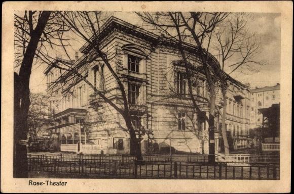Ansichtskarte Postkarte Friedrichshain Berlin Partie Am Akpoolde