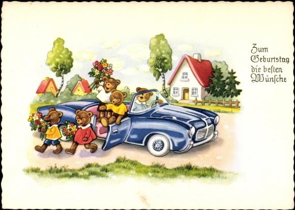 Kunstler Ansichtskarte Postkarte Gluckwunsch Geburtstag Akpool De