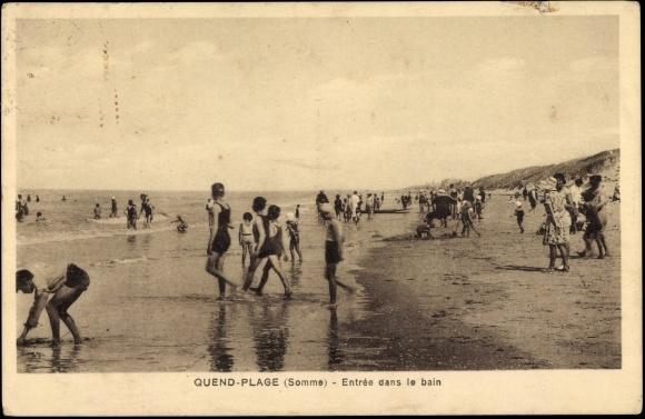 carte postale quend plage