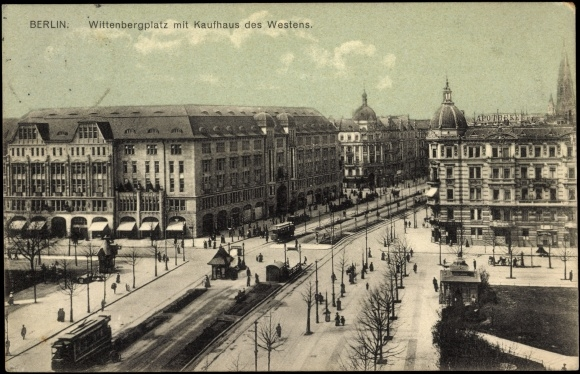 postcard berlin sch neberg kdw wittenbergplatz apotheke tram. Black Bedroom Furniture Sets. Home Design Ideas