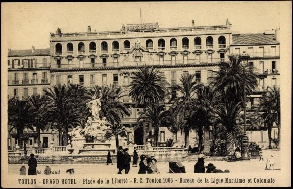 carte postale toulon var grand hotel place de la libert entrance. Black Bedroom Furniture Sets. Home Design Ideas