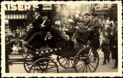 Foto Ak Viersen, Stadtfest, Kaiser's, Kutsche, Männer