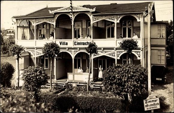Foto ansichtskarte postkarte g hren r gen villa for Villa eintracht