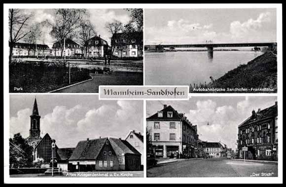 ansichtskarte postkarte mannheim sandhofen autobahn. Black Bedroom Furniture Sets. Home Design Ideas
