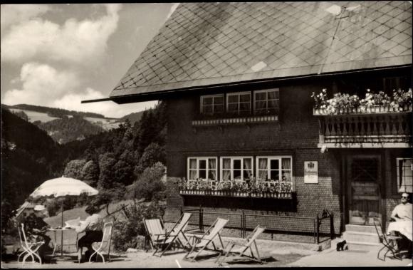 ansichtskarte postkarte gremmelsbach triberg pension schoch terrasse. Black Bedroom Furniture Sets. Home Design Ideas