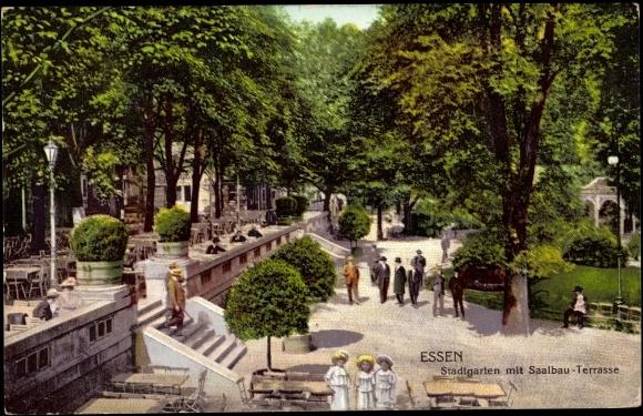 Ansichtskarte postkarte essen stadtgarten mit saalbau - Stadtgarten hamburg ...