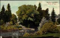 Postcard Mondorf les Bains Luxemburg, Partie au parc, Eau