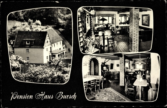 postcard denklingen reichshof pension haus bursch k lbach. Black Bedroom Furniture Sets. Home Design Ideas