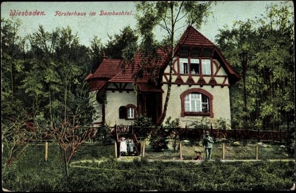 Postcard Wiesbaden Försterhaus Im Dambachtal Mit Akpoolcouk