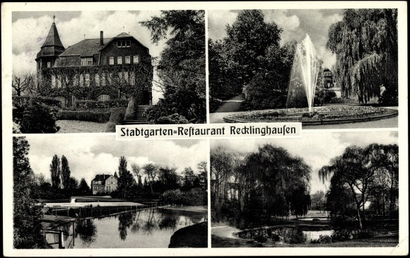 Ansichtskarte postkarte recklinghausen stadtgarten - Stadtgarten hamburg ...