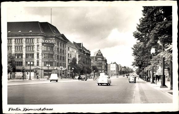 ansichtskarte postkarte berlin charlottenburg bosch geb ude bismarckstra e. Black Bedroom Furniture Sets. Home Design Ideas