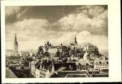 Postcard Tallinn Estland, Totalansicht auf den Domberg